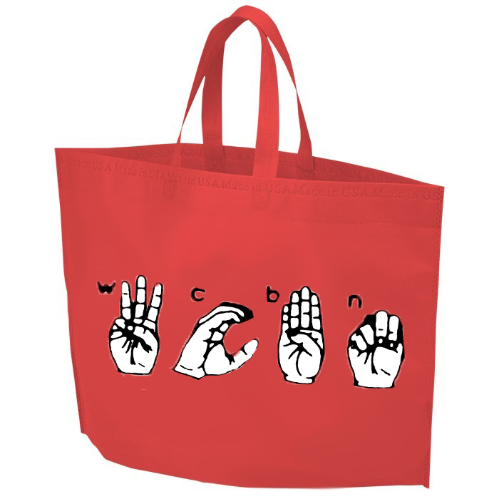 WCBN Sign Language Tote Bag