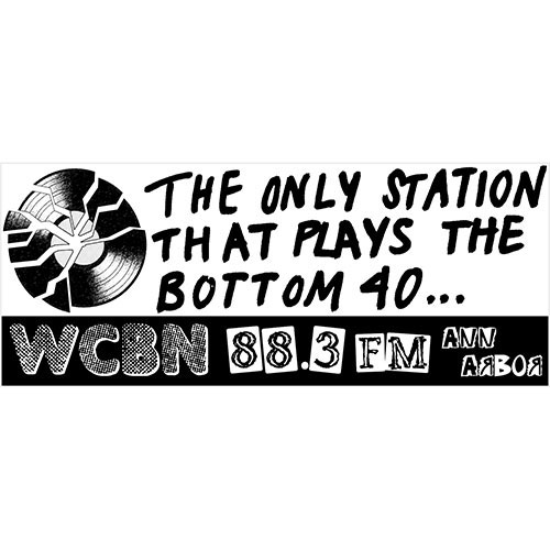 WCBN bumper sticker