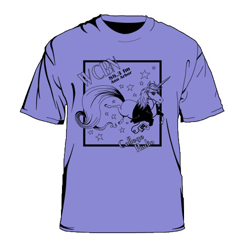 WCBN Magical Unicorn T-Shirt