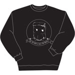 WCBN Face For Radio Crewneck Sweatshirt