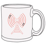 "Click here for more information about WCBN ""I Can Hear Clearly Now"" Glass Mug"