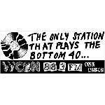 "WCBN ""Bottom 40"" bumper sticker"